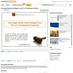 Get Legal Advice from Notinger Law, P.L.L.C. for Business Contracts