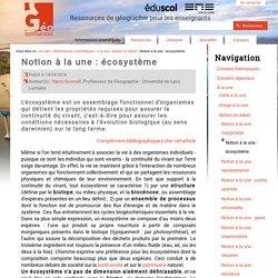 Notion à la une : écosystème