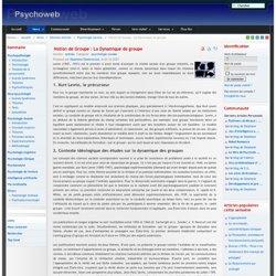 Notion de Groupe : La Dynamique de groupe-Psychoweb