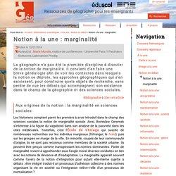 Notion à la une : marginalité