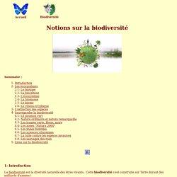 Notions sur la biodiversité