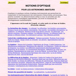 Notions d'optique