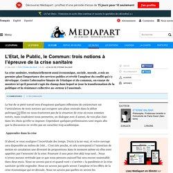L'Etat, le Public, le Commun: trois notions à l'épreuve de la crise sanitaire