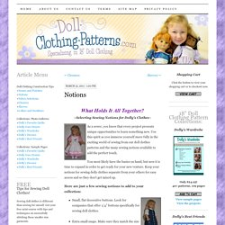 Doll Clothing Construction Tips