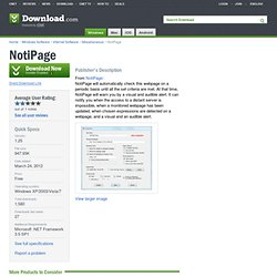 NotiPage - Free software downloads and software reviews