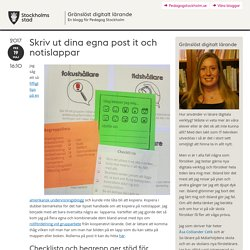 Skriv ut dina egna post it och notislappar