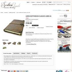 Prachtig Italiaans navulbaar leren notitieboek met klassiek beslag. Maat A5 - Classic stationary