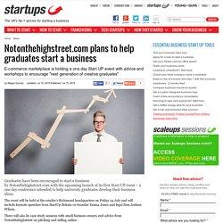 Notonthehighstreet.com plans to help graduates start a business