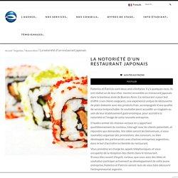 La notoriété d'un restaurant japonais - Mon stage en Argentine