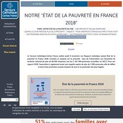 """Notre """"État de la pauvreté en France 2018"""""""