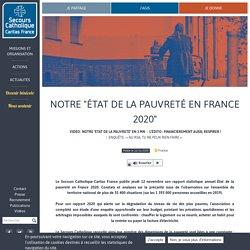 """Notre """"État de la pauvreté en France 2020"""" / Secours catholique, décembre 2020"""