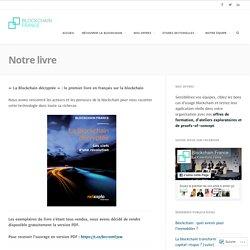 Notre livre – Blockchain France