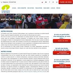 Notre mission – Fondation Pour l'Ecole