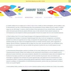 Notre Modèle — Sudbury School Paris