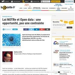 Loi NOTRe et Open data : une opportunité, pas une contrainte