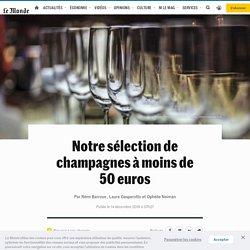 Notre sélection de champagnes à moins de 50euros