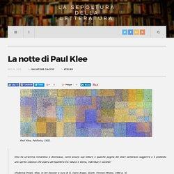 La notte di Paul Klee - La Sepoltura della Letteratura