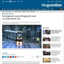 Nottingham named England's least car-dependent city
