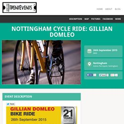 26 Sept: Nottingham Cycle Ride: Gillian Domleo - TrentEvents