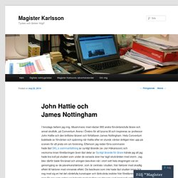 John Hattie och James Nottingham