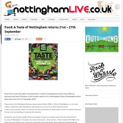 21-27 Sept: Food: A Taste of Nottingham returns 21st – 27th September