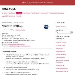 Noucher Matthieu - PASSAGES