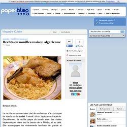 Rechta ou nouilles maison algerienne