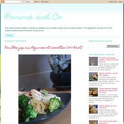 Nouilles jap aux légumes et crevettes (260 kcal)