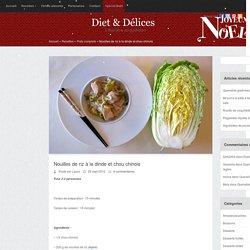 Nouilles de riz à la dinde et chou chinois