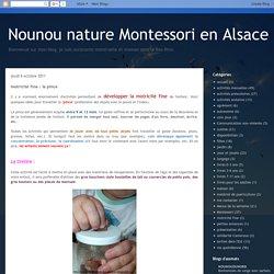 Nounou nature Montessori en Alsace: motricité fine : la pince
