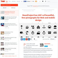 NounProject: 100's of Free Pictographs for Designers