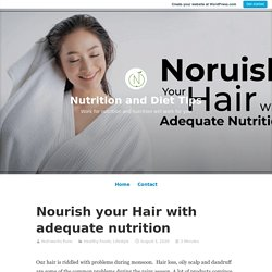 Nourish your Hair with adequate nutrition – Nutrition and Diet Tips