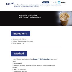 Nourishing Cold Coffee Recipe with Ensure® Diabetes Care