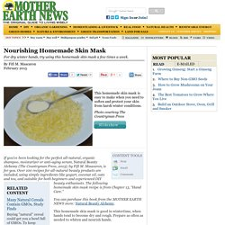 Nourishing Homemade Skin Mask - Natural Health