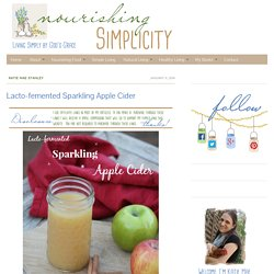 Lacto-femented Sparkling Apple Cider - Nourishing Simplicity