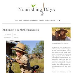Nourishing Days — notes and recipes for a nourishing home