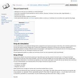 Nourrissement - ApiWiki