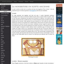 egypte ancienne Nourriture