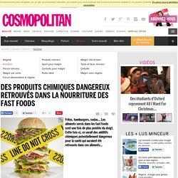 Des produits chimiques dangereux retrouvés dans la nourriture des fast foods