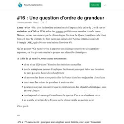 #16 : Une question d'ordre de grandeur - Nourritures terrestres