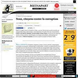 Nous, citoyens contre la corruption