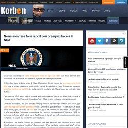 Nous sommes tous à poil (ou presque) face à la NSA