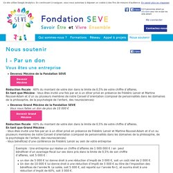 Nous soutenir - Fondation Seve