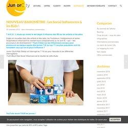 NOUVEAU BAROMÈTRE : Les Social Influencers & les Kids ! - Junior City