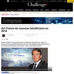 Air France de nouveau bénéficiaire en 2014 - 7 octobre 2013