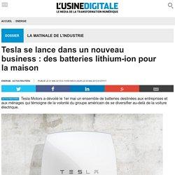 Tesla se lance dans un nouveau business : des batteries lithium-ion pour la maison