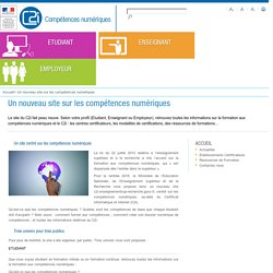 Un nouveau site sur les compétences numériques