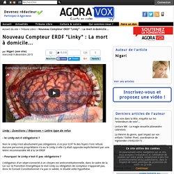 """Nouveau Compteur ERDF """"Linky"""" : La mort à domicile..."""