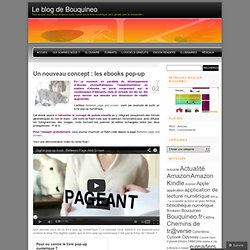 Un nouveau concept : les ebooks pop-up