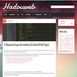 Nouveau type de contenu (Custom Post Type) - WordPress